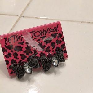 Betsey bow earrings